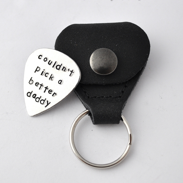 Guitar Pick with case, Hand Stamped Personalized Guitar Pick with case, custom Guitar Pick, father's day gifts, gift for dad, Graduation by ZADOO