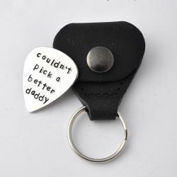 Guitar Pick with case, Hand Stamped Personalized Guitar Pick with case, custom Guitar Pick, father&#039;s day gifts, gift for dad, Graduation by ZADOO