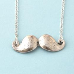 mustache necklace, mustache long necklace, limited quantities